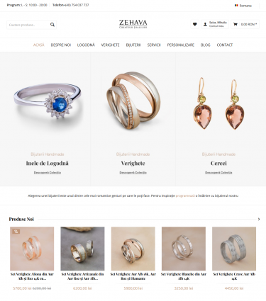 Website Zehava.ro